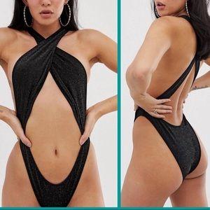 NWT ASOS sexy black cutout monokini